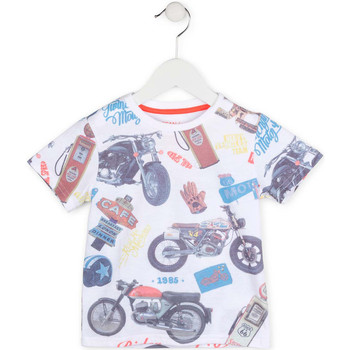 tekstylia Chłopiec T-shirty z krótkim rękawem Losan 715 1017AC Biały
