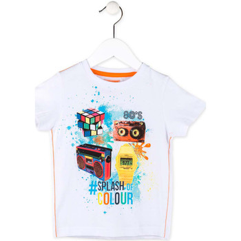 tekstylia Chłopiec T-shirty z krótkim rękawem Losan 715 1023AC Biały