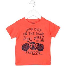tekstylia Dziecko T-shirty z krótkim rękawem Losan 715 1215AC Pomarańczowy