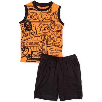 tekstylia Chłopiec Komplet Losan 715 8043AC Pomarańczowy
