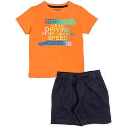 tekstylia Chłopiec Komplet Losan 715 8047AC Pomarańczowy
