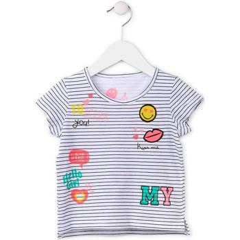 tekstylia Dziewczynka T-shirty z krótkim rękawem Losan 716 1033AD Biały