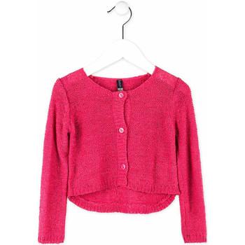tekstylia Dziewczynka Swetry rozpinane / Kardigany Losan 716 5000AD Różowy
