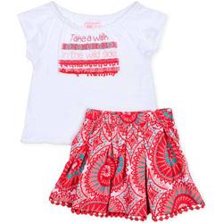 tekstylia Dziewczynka Komplet Losan 716 8010AD Biały
