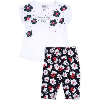 tekstylia Dziewczynka Komplet Losan 716 8012AD Biały