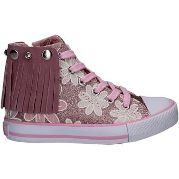 Buty Dziewczynka Trampki wysokie Lulu LV010072S Różowy