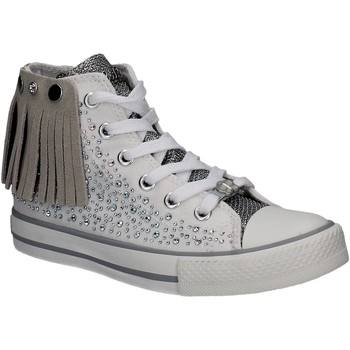 Buty Dziewczynka Trampki wysokie Lulu LV010072S Biały