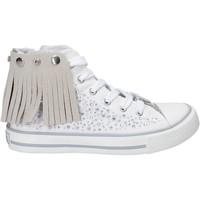 Buty Dziewczynka Trampki wysokie Lulu LV010074T Biały
