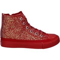 Buty Dziewczynka Trampki wysokie Lulu LV010077S Czerwony
