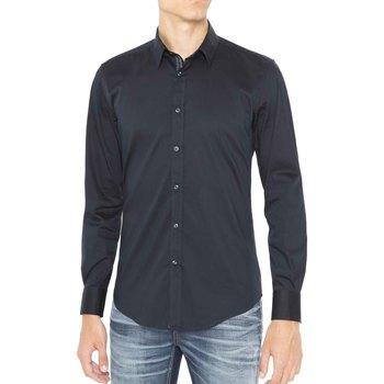 tekstylia Męskie Koszule z długim rękawem Antony Morato MMSL00415 FA450001 Niebieski