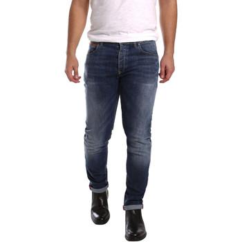 tekstylia Męskie Jeansy slim fit 3D P3D1 2659 Niebieski