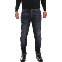 tekstylia Męskie Jeansy slim fit 3D P3D1 2667 Niebieski