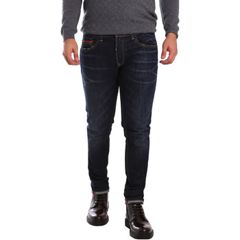 tekstylia Męskie Jeansy slim fit 3D P3D6 2659 Niebieski
