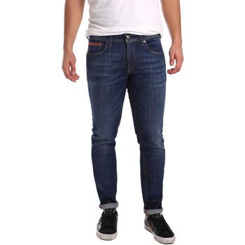 tekstylia Męskie Jeansy slim fit 3D P3D6 2667 Niebieski