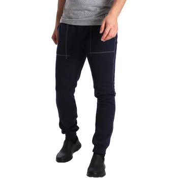 tekstylia Męskie Spodnie dresowe Key Up SF19 0001 Niebieski