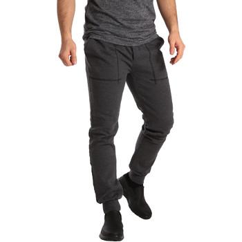tekstylia Męskie Spodnie dresowe Key Up SF19 0001 Szary