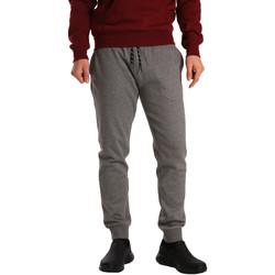 tekstylia Męskie Spodnie dresowe Key Up GV77 0001 Szary