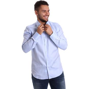 tekstylia Męskie Koszule z długim rękawem Gmf 972903/02 Niebieski