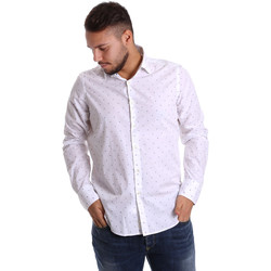 tekstylia Męskie Koszule z długim rękawem Gmf 972156/03 Biały