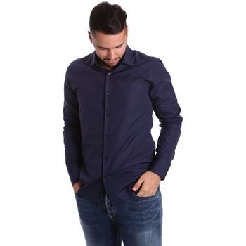 tekstylia Męskie Koszule z długim rękawem Gmf 972900/04 Niebieski