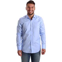 tekstylia Męskie Koszule z długim rękawem Gmf 972900/03 Niebieski