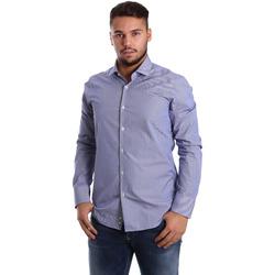 tekstylia Męskie Koszule z długim rękawem Gmf 972908/04 Niebieski