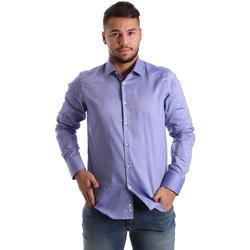 tekstylia Męskie Koszule z długim rękawem Gmf 972103/05 Niebieski