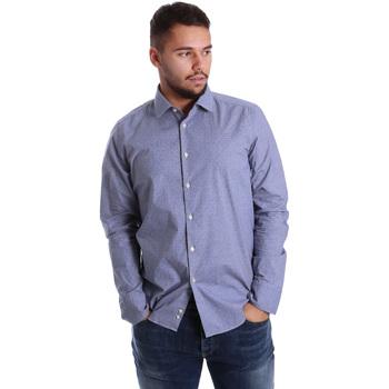 tekstylia Męskie Koszule z długim rękawem Gmf 972144/01 Niebieski