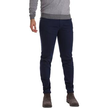 tekstylia Męskie Spodnie z pięcioma kieszeniami Sei3sei PZV17 7257 Niebieski