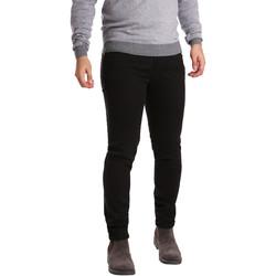 tekstylia Męskie Spodnie z pięcioma kieszeniami Sei3sei PZV17 7257 Czarny