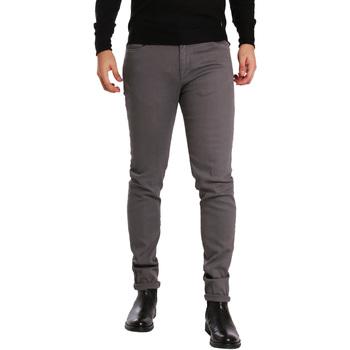 tekstylia Męskie Spodnie z pięcioma kieszeniami Sei3sei PZV17 7257 Szary
