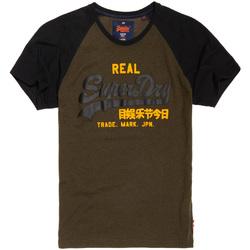tekstylia Męskie T-shirty z krótkim rękawem Superdry M10008HPF1 Czarny