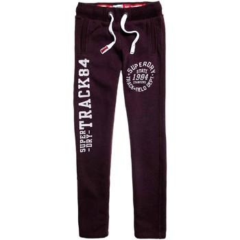 tekstylia Męskie Spodnie dresowe Superdry M70000XPF3 Fioletowy