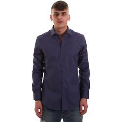 tekstylia Męskie Koszule z długim rękawem Gaudi 921BU45001 Niebieski