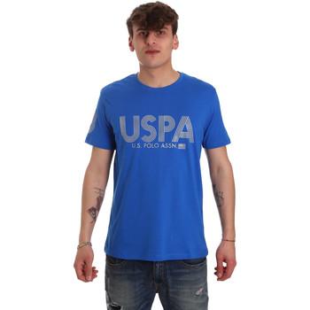 tekstylia Męskie T-shirty z krótkim rękawem U.S Polo Assn. 57197 49351 Niebieski