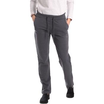 tekstylia Damskie Spodnie dresowe Key Up GE31 0001 Szary
