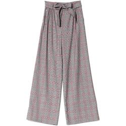 tekstylia Damskie Spodnie z lejącej tkaniny / Alladynki Denny Rose 721DD20029 Czarny