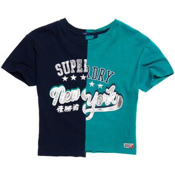 tekstylia Damskie T-shirty z krótkim rękawem Superdry G60001KQ Niebieski