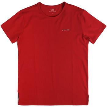 tekstylia Męskie T-shirty z krótkim rękawem Key Up 2G69S 0001 Czerwony