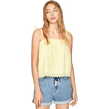 tekstylia Damskie Topy / Bluzki Pepe jeans PL303720 Żółty