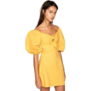 tekstylia Damskie Sukienki krótkie Pepe jeans PL952666 Żółty