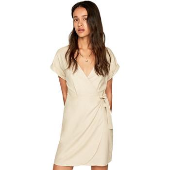 tekstylia Damskie Sukienki krótkie Pepe jeans PL952662 Beżowy