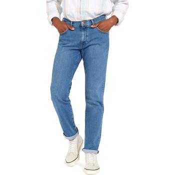 tekstylia Męskie Jeansy straight leg Wrangler W12OM440D Niebieski