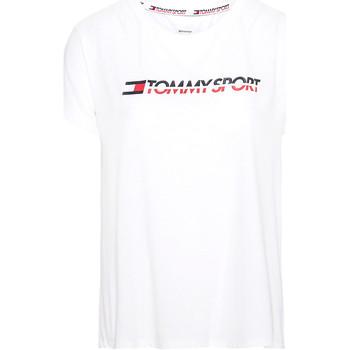 tekstylia Damskie T-shirty z krótkim rękawem Tommy Hilfiger S10S100061 Biały