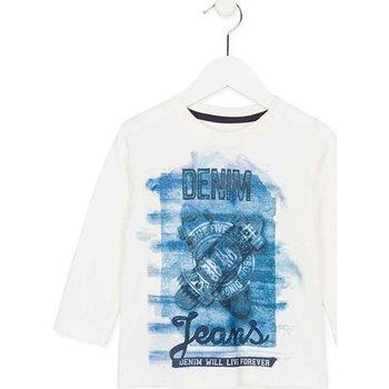 tekstylia Dziecko T-shirty z długim rękawem Losan 725 1000AC Biały