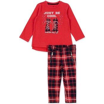tekstylia Dziewczynka Komplet Losan 726 8013AD Czerwony