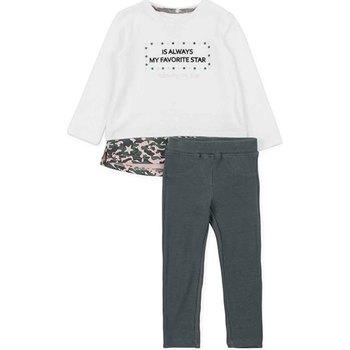 tekstylia Dziewczynka Komplet Losan 726 8036AD Biały
