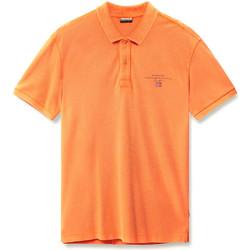 tekstylia Męskie Koszulki polo z krótkim rękawem Napapijri N0YIJ5 Pomarańczowy