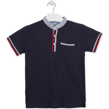 tekstylia Dziecko Koszulki polo z krótkim rękawem Losan 015-1791AL Niebieski
