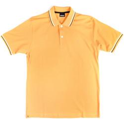 tekstylia Męskie Koszulki polo z krótkim rękawem Key Up 2Q70G 0001 Żółty